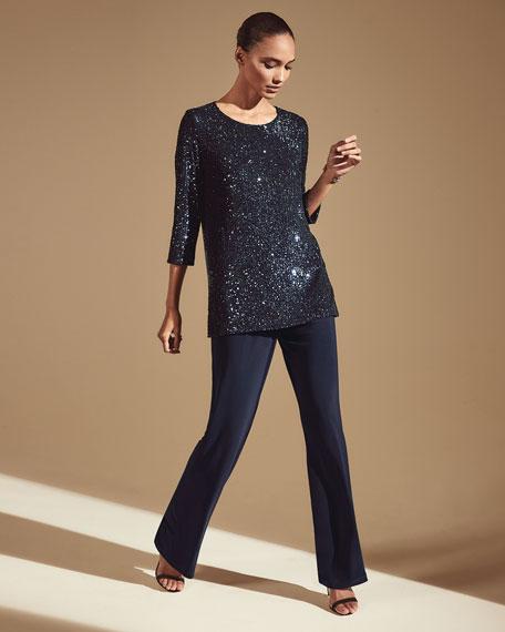 Caroline Rose Sequin 3/4-Sleeve Tunic