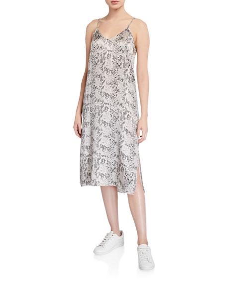 ATM Anthony Thomas Melillo Silk Snake-Print Slip Dress