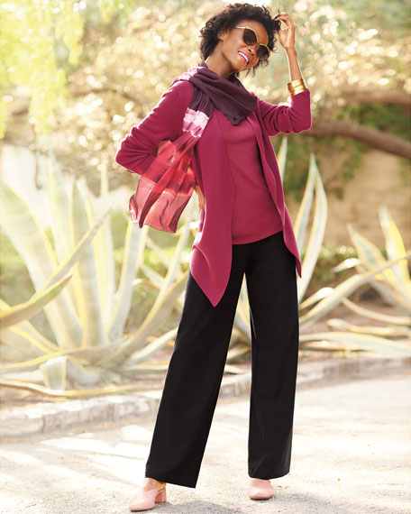 Eileen Fisher Plus Size Scoop-Neck Stretch Silk Jersey Cami