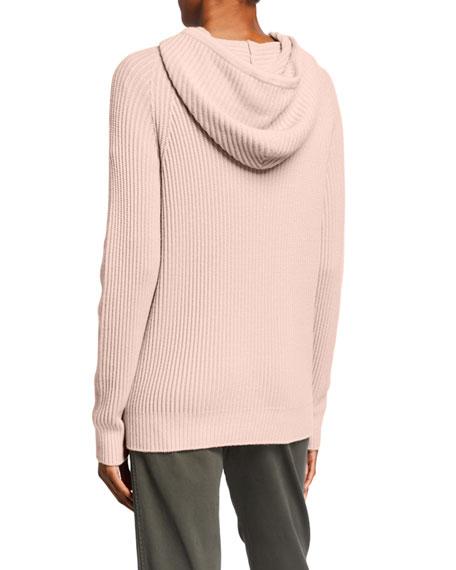 Max Mara Leisure Ribbed Wool Hooded Long-Sleeve Sweater