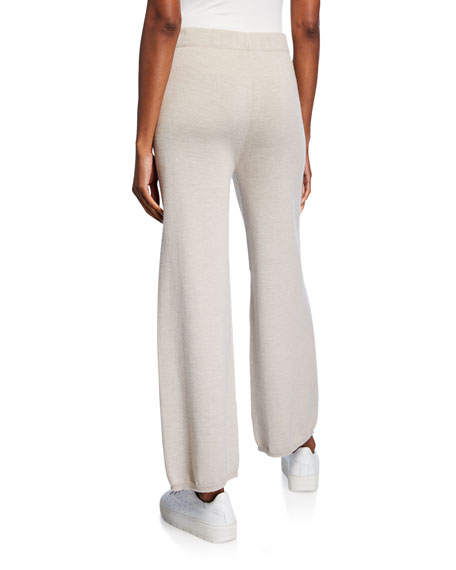 Max Mara Leisure Wool Full-Leg Lounge Pants