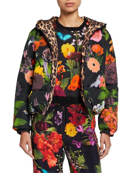 Alice + Olivia Durham Reversible Hooded Puffer Jacket