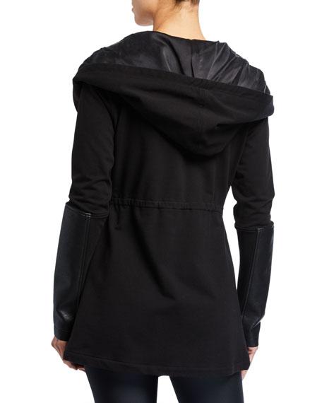 Blanc Noir Traveler Hooded Tie-Waist Jacket