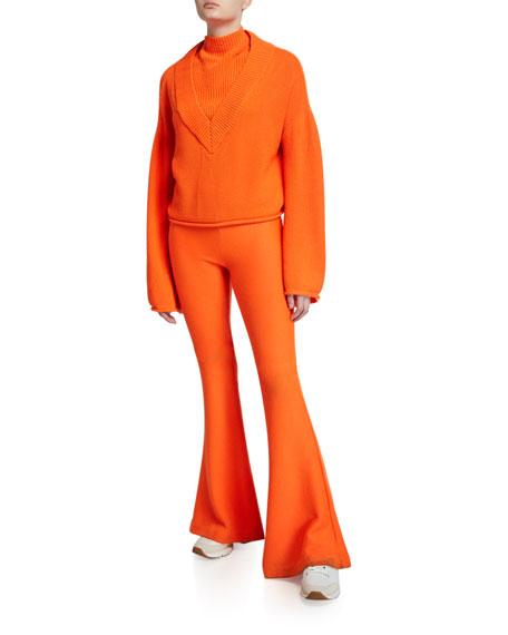 Victor Glemaud Wide-Leg Wool Pants