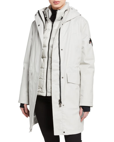 2-Piece Tailored Down Long Parka  Gray