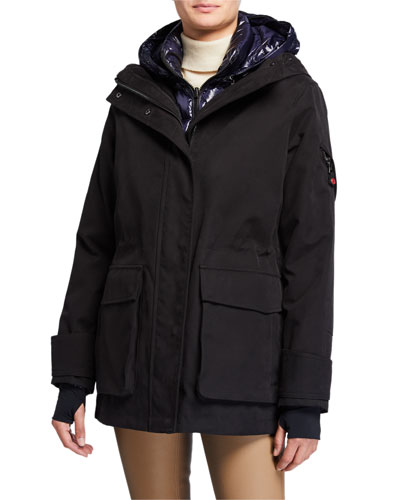 2-Piece Tailored Down Mid Parka