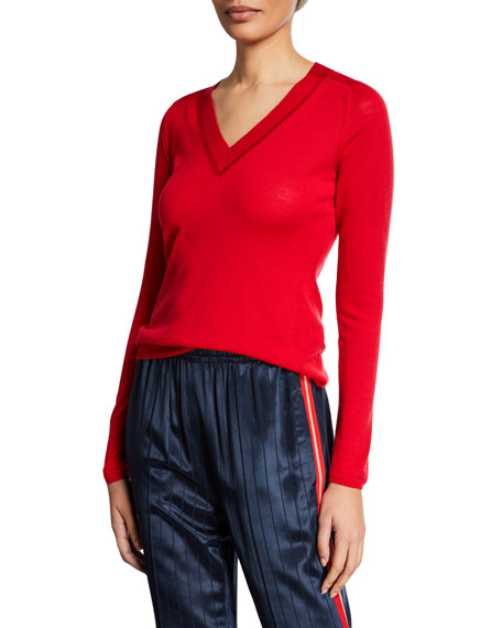 Rag & Bone Pamela V-Neck Merino Wool Sweater