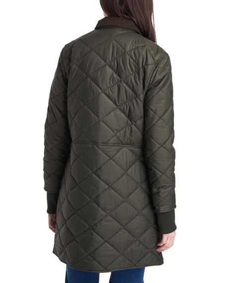 Barbour Jedburgh Box-Quilt Long Jacket