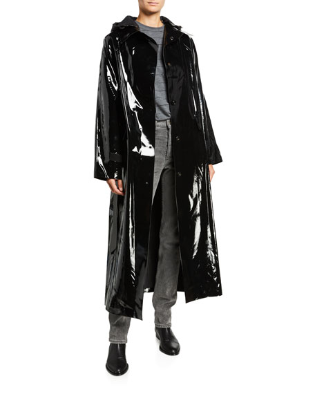 Image 2 of 5: Kassl Maxi Glossy Lacquer Raincoat
