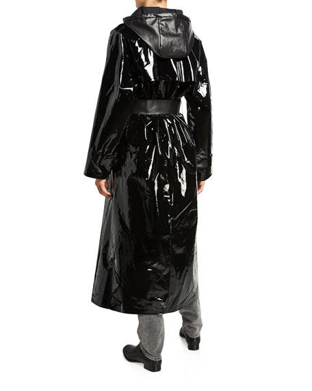 Image 4 of 5: Kassl Maxi Glossy Lacquer Raincoat
