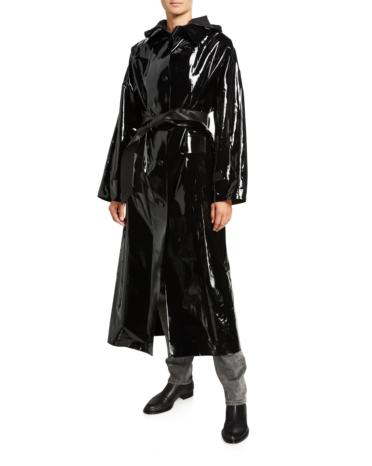 Kassl Maxi Glossy Lacquer Raincoat