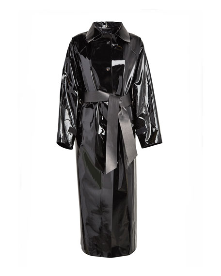 Image 5 of 5: Kassl Maxi Glossy Lacquer Raincoat