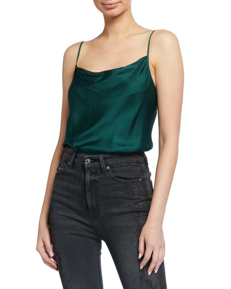 7 For All Mankind Cowl-Neck Slip Tank