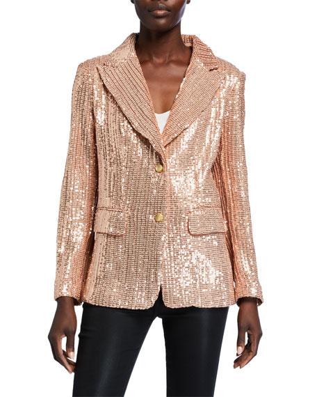 Berek Plus Size Sequin Two-Button Blazer
