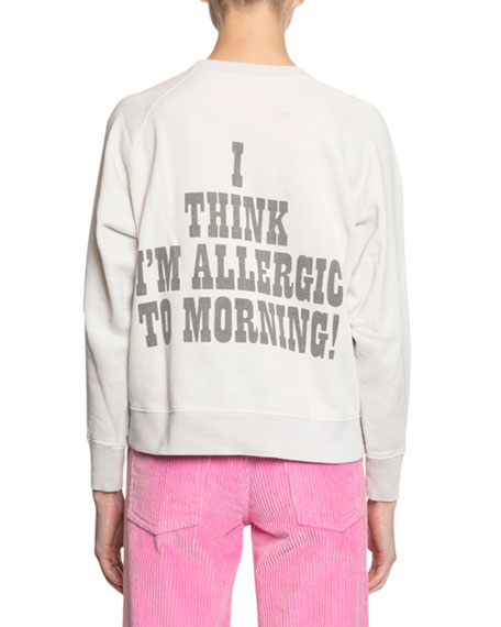 Marc Jacobs Peanuts x Marc Jacobs The Sweatshirt - Snoopy Allergic to Morning