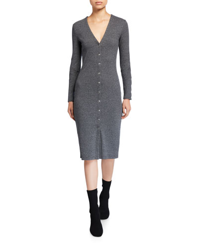 Confetti Snap-Front Sweater Dress