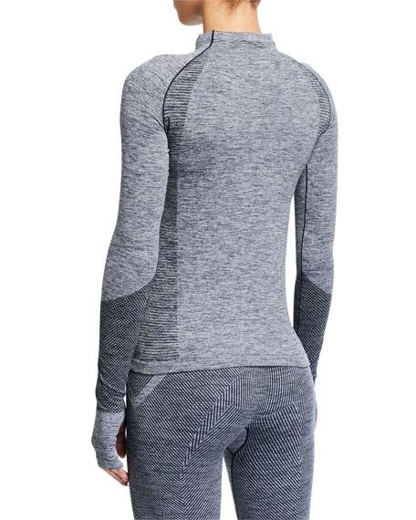 Reebok by Victoria Beckham Seamless Long-Sleeve Textured Active Top