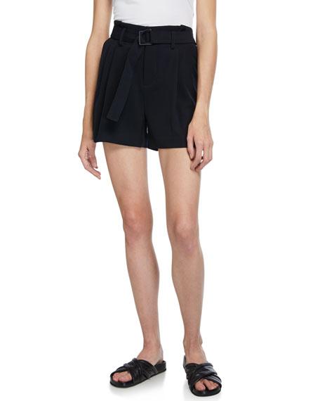 Vince Belted Wide-Leg Shorts