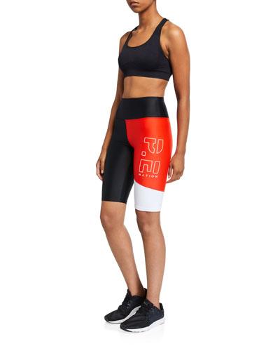 Benchwarmer Colorblock Biker Shorts