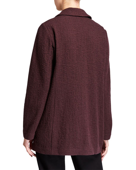 Eileen Fisher Petite Pucker Notch Collar Open-Front Jacket
