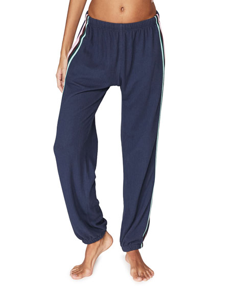 Spiritual Gangster Malibu Night Striped Sweatpants