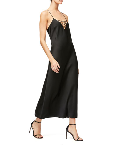 Lace-Up Satin Dress - Inclusive Sizing