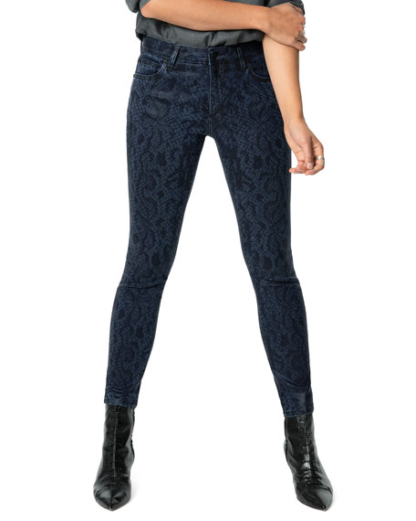 Joe's Jeans The Charlie Snake-Print Ankle Jeans