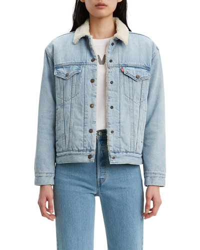 Ex-Boyfriend Sherpa-Lined Trucker Jacket
