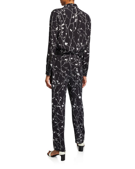 Image 2 of 2: Rag & Bone Therese Printed Long-Sleeve Jumpsuit