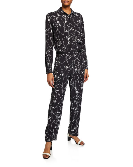 Image 1 of 2: Rag & Bone Therese Printed Long-Sleeve Jumpsuit