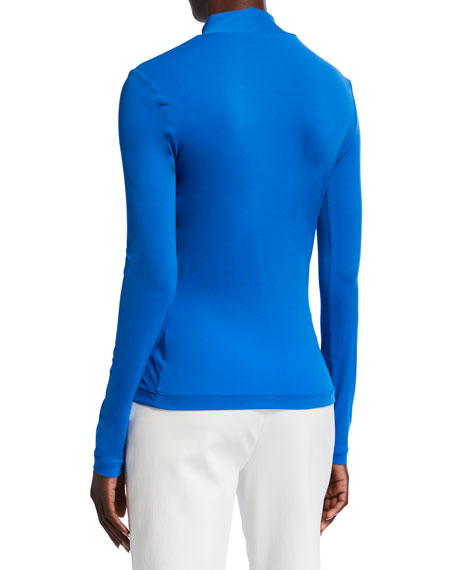 Image 3 of 3: Nuda Jersey Mock-Neck Long-Sleeve Top