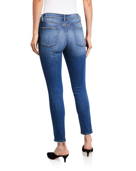 FRAME Le High Skinny Jeans with Tuxedo Piping