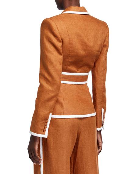 Zimmermann Super Eight Belted Linen Blazer