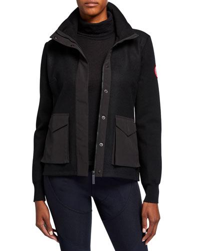 Windbridge Wool Patch-Pocket Jacket