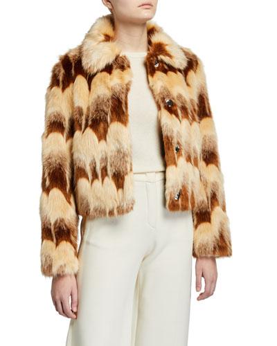 Lucille Cropped Faux Fur Jacket