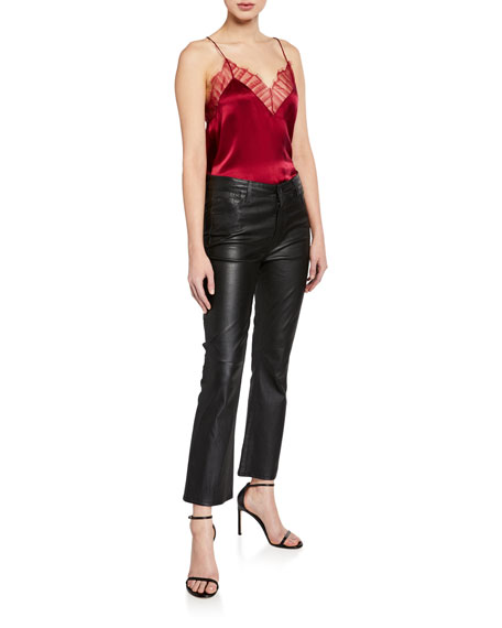 7 For All Mankind High-Rise Slim-Leg Kick Flare Jeans