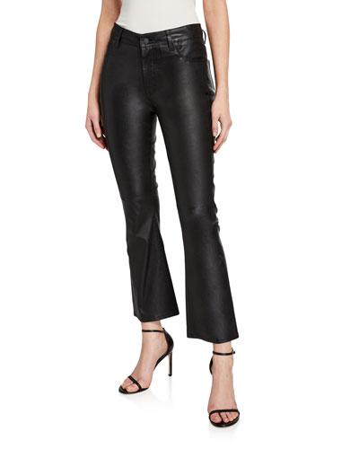 High-Rise Slim-Leg Kick Flare Jeans