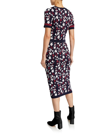 Shoshanna Evan Floral Short-Sleeve Dress