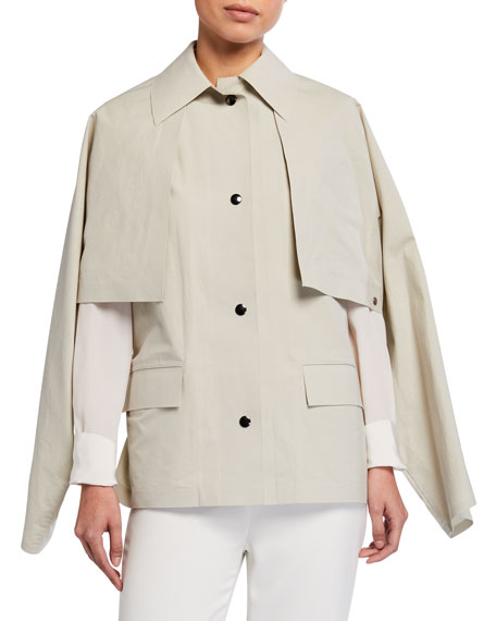 Image 2 of 4: Kassl Convertible Cape Trench Jacket