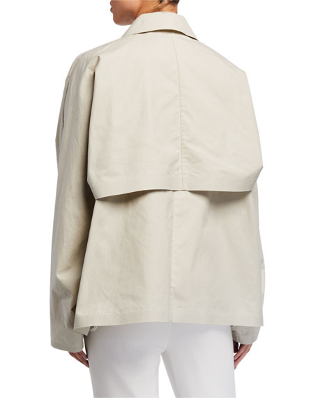 Image 4 of 4: Kassl Convertible Cape Trench Jacket