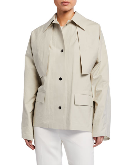Image 1 of 4: Kassl Convertible Cape Trench Jacket