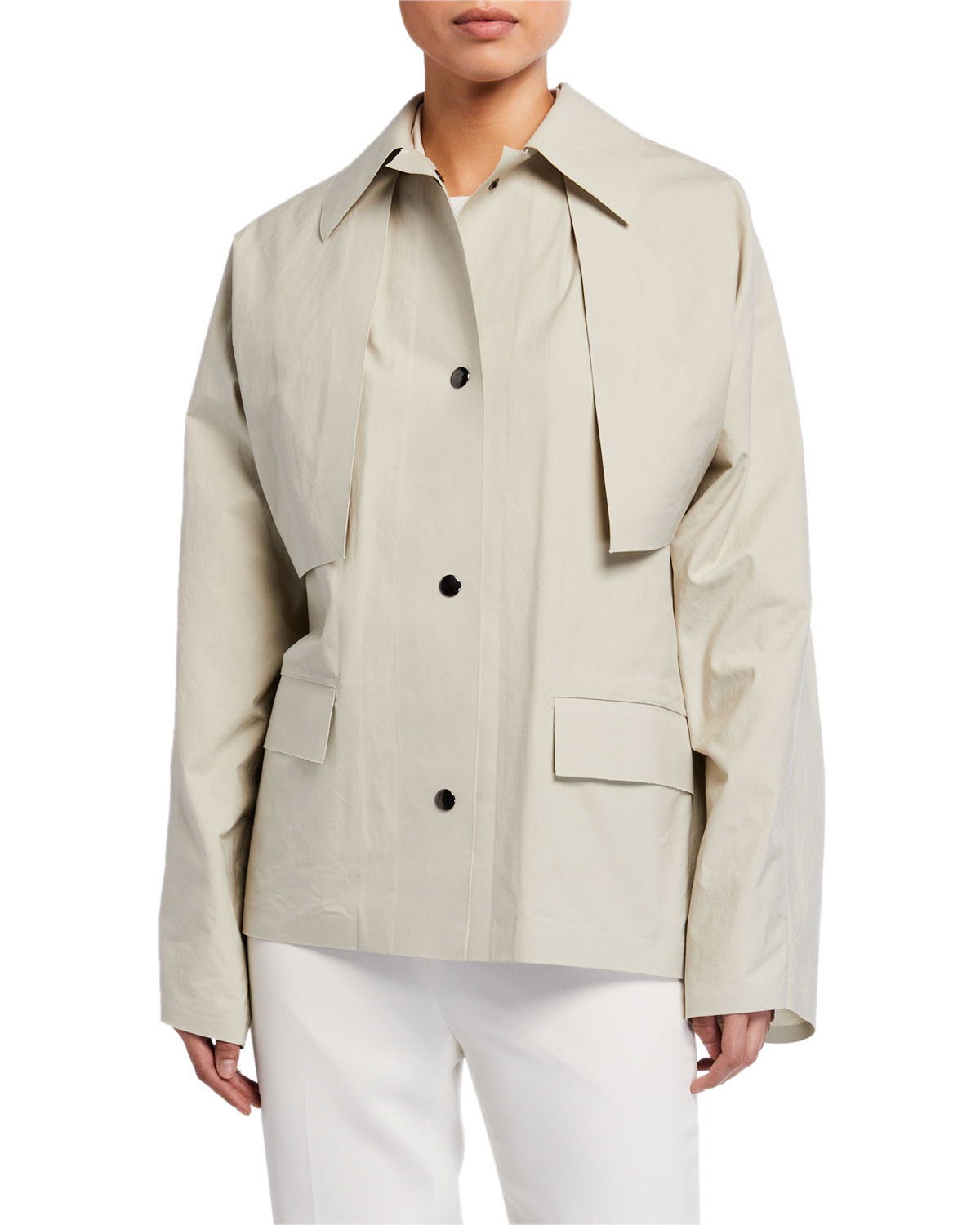 Kassl Convertible Cape Trench Jacket