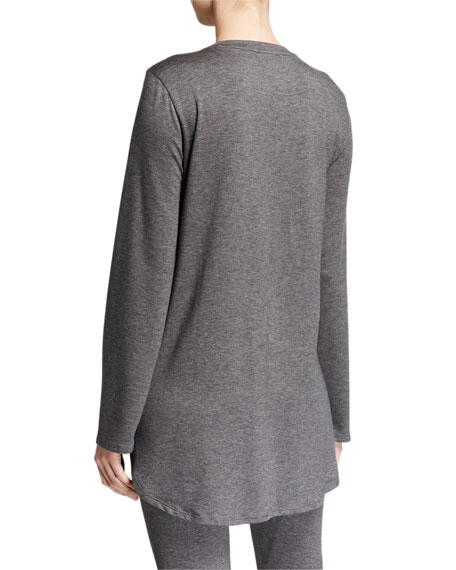 Eileen Fisher Petite Stretch Terry Long-Sleeve Shirttail Long Tunic