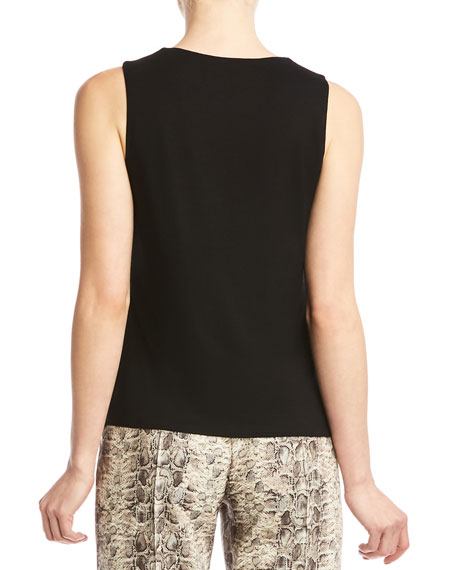 Bailey 44 Amber Twisted Sleeveless Jersey Top
