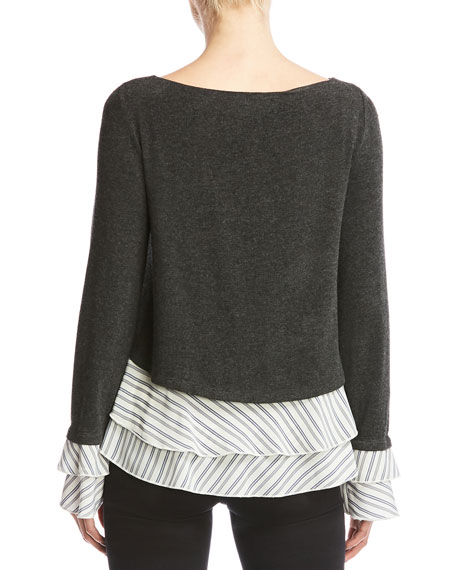 Bailey 44 Donna Mixed Media Knit Top