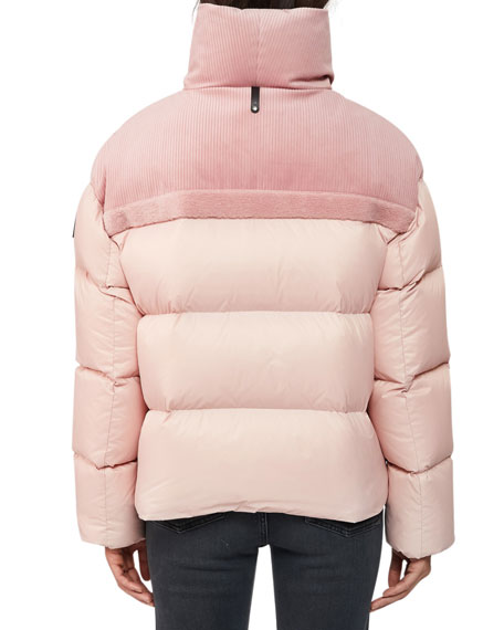 Mackage Hooded Down Jacket w/ Corduroy