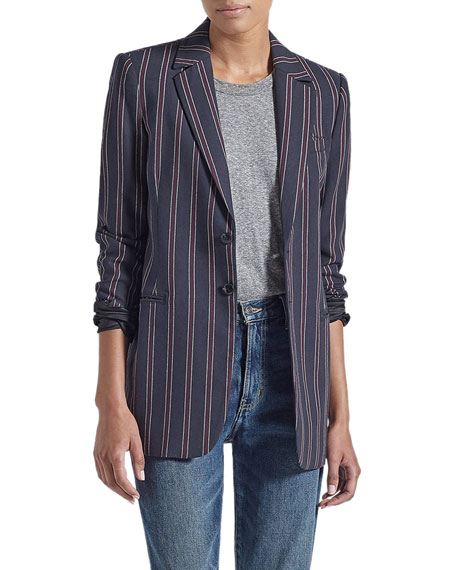 Current/Elliott The Taxi Line Striped Blazer