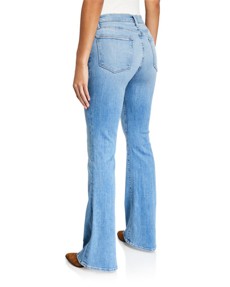 Image 2 of 3: FRAME Le High Flare Jeans