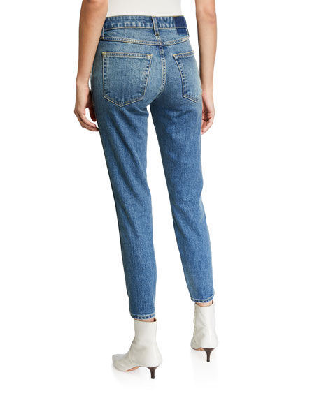 Image 2 of 3: Mid-Rise Twisted Seam Ankle Skinny Jeans