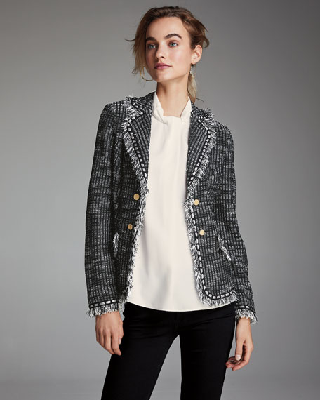 Misook Tweed Jacket with Gold Buttons